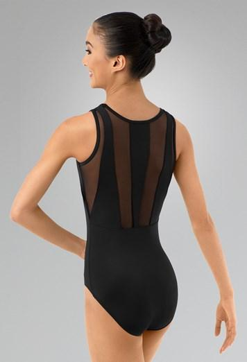 Tank Leotard with Mesh Back Leotards Balera Child M Black