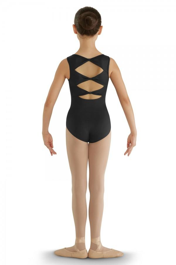 Triple Bow Back Child Tank Leotard Leotards Bloch Child 6X-7 Black