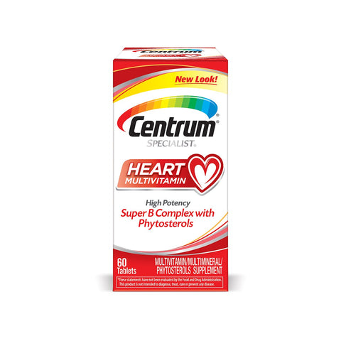 Centrum Specialist Heart Multivitamin High Potency Super-B Complex with Phytosterols (60 tablets)