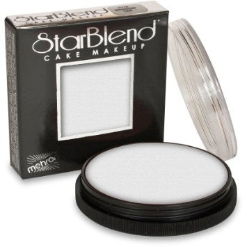 Mehron StarBlend Cake Makeup (White - F41A8) 56g / 2 oz. - The Style Quarter