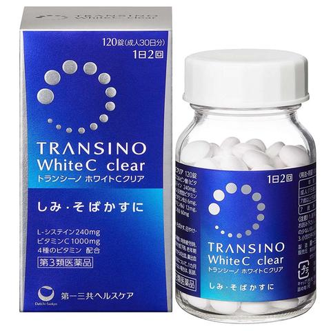Transino White C Clear Whitening Supplement 120 tablets
