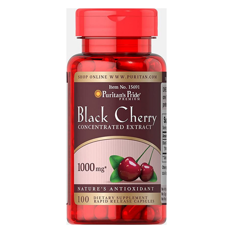 Puritan's Pride Black Cherry Concentrated Extract 1000mg (100 capsules)