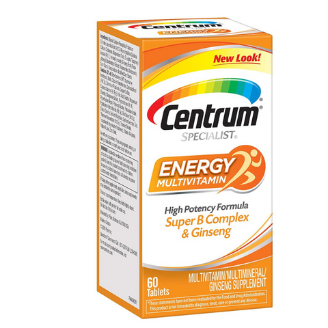 Centrum Specialist Energy Multivatimins (60 tabs) High Potency Formula w/ Super B Complex & Ginseng