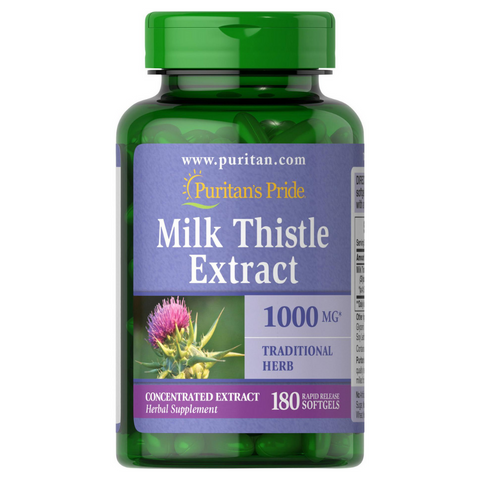 Puritan's Pride Milk Thistle Silymarin 1000mg 180 Softgels