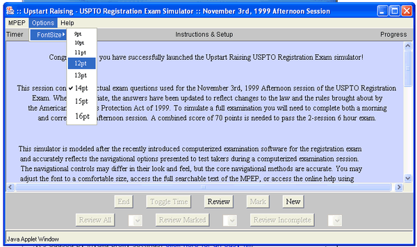 Patent Bar Screenshot