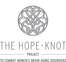 Support the Initiative. Wear a Hope-Knot. 100% of proceeds go to combating women's brain aging disorders.