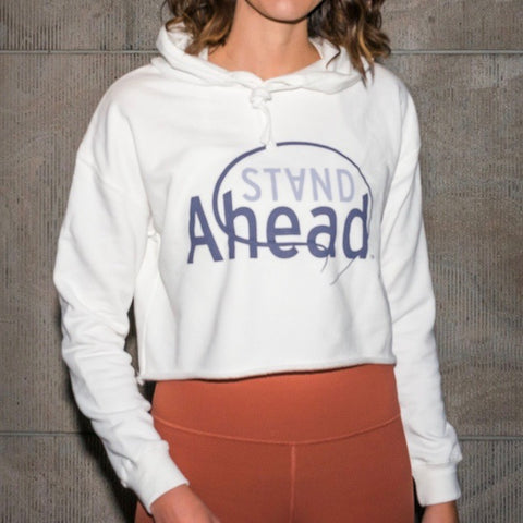 Stand Ahead Women's Cropped Fleece Hoodie