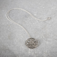 Sterling Silver Hope-Knot Pendant