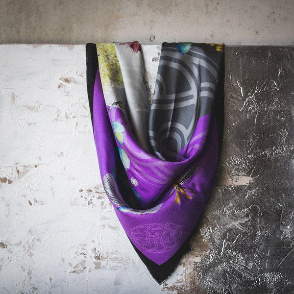 Mind Over Matter Italian Silk Scarf