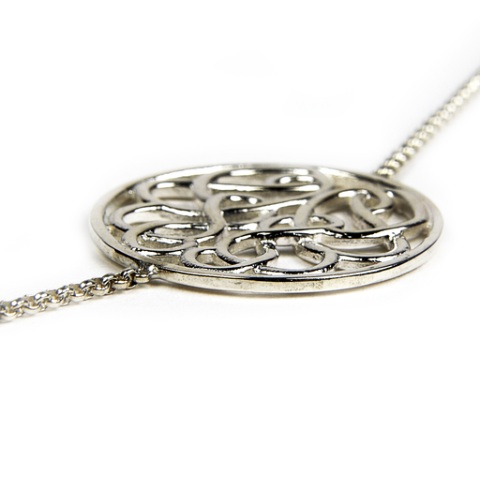 Sterling Silver Long Multi Hope-Knot Necklace