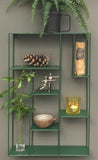 Green Painted Metal Wall Hanging Shelf Unit