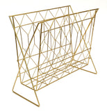 Gold Coloured Metal Magazine Rack