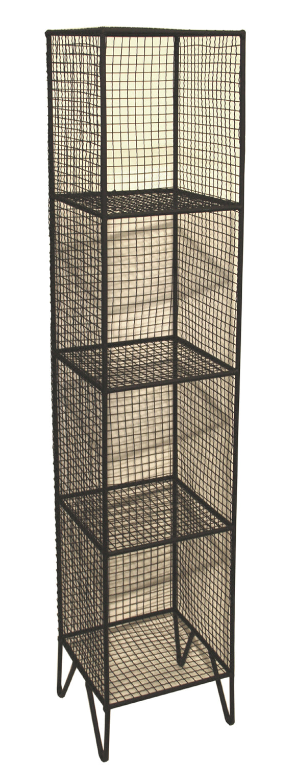 Metal Mesh Freestanding Shelf Unit with 4 Tiers - VARIOUS COLOURS
