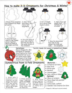 Make 3D Ornaments for Christmas and Winter