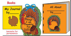Create Turkey themed books for writing projects