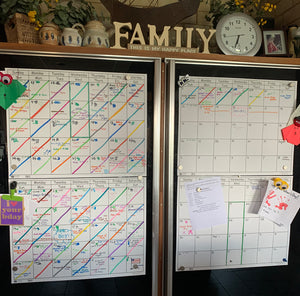 Calendar's are great for organizing family schedules!