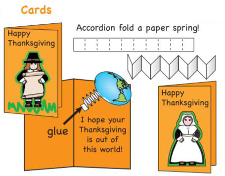 Make fun Thanksgiving cards for friends and family
