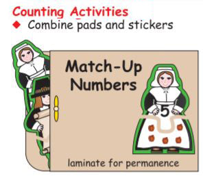 Create fun Thanksgiving themed Counting Activities with Pilgrim Notepads!