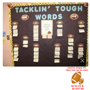 Tacklin' Tough Words - Football Themed Word Board