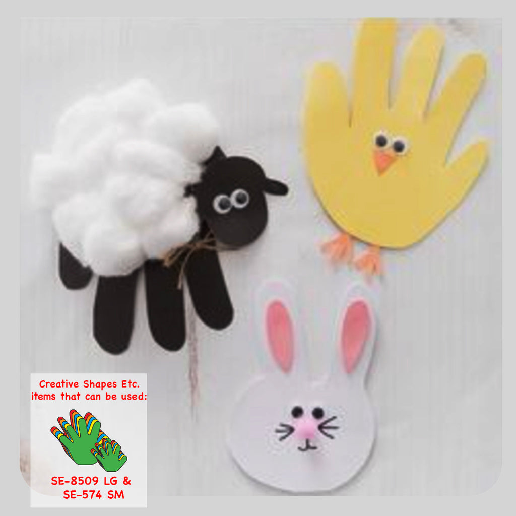 Hand Print Easter Cards