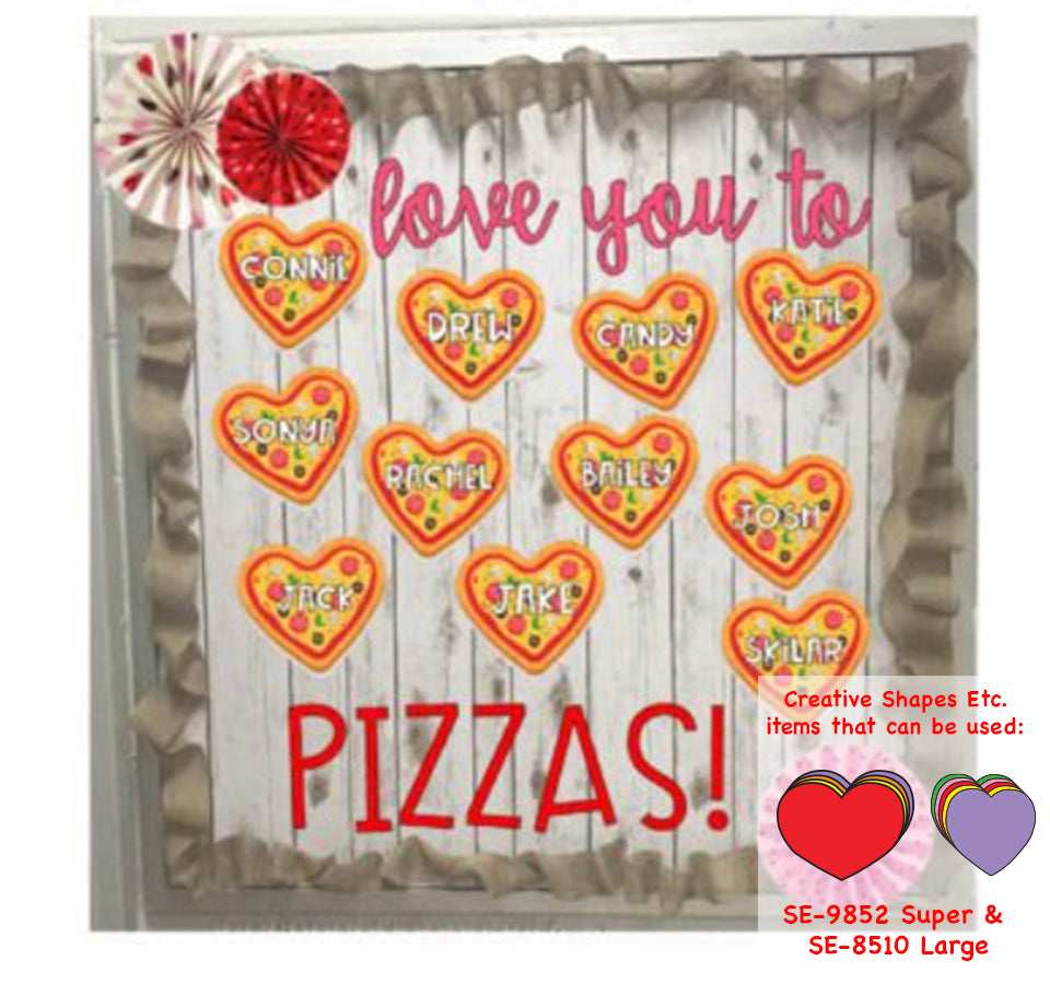 Heart Pizza Bulletin Board