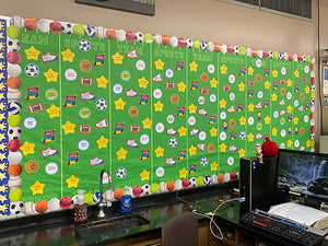 Create bulletin boards for high school students