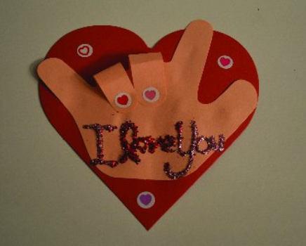 """How To"" Sign Language heart project"
