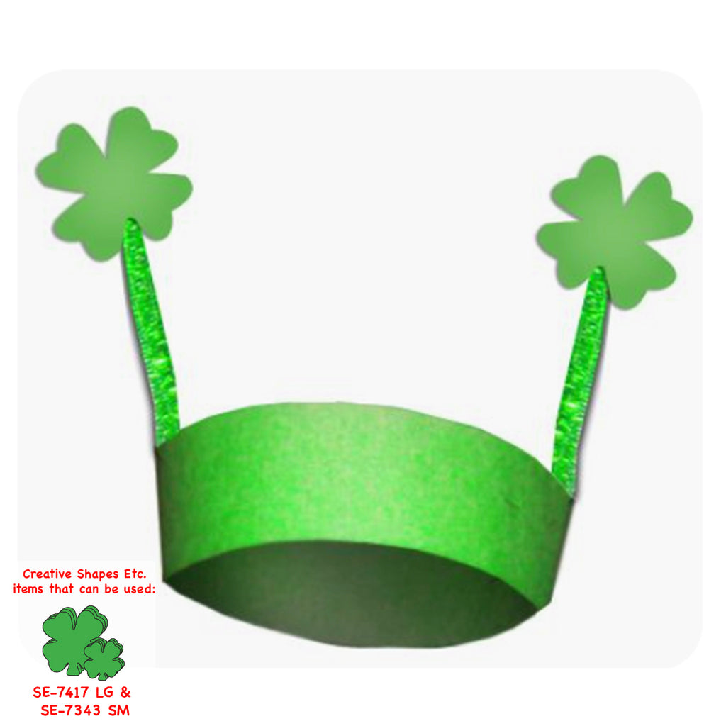 Create this fun clover crown to wear on St. Patrick's Day!