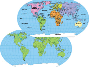 Explore the world with our World Maps!