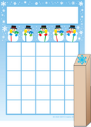Progress Pad/ Stamps Set - Snowmen