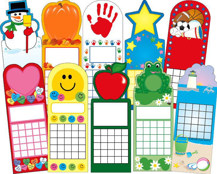 Year Round Personal Incentive Chart Set of 10 - Creative Shapes Etc.