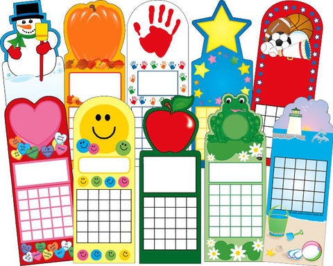 Picture of Year Round Personal Incentive Chart Set of 10
