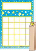 Progress Pad/ Stamps Set - Stars - Creative Shapes Etc.