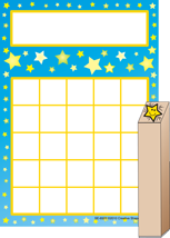 Picture of Progress Pad/ Stamps Set - Stars
