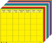 Horizontal Calendar - Set of 12 - Creative Shapes Etc.