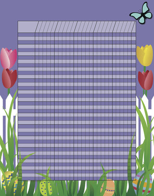 Vertical Incentive Chart - Spring - Creative Shapes Etc.