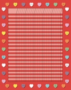 Vertical Incentive Chart - Red Heart - Creative Shapes Etc.
