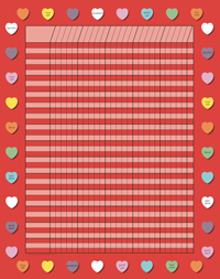 Vertical Incentive Chart - Red Heart
