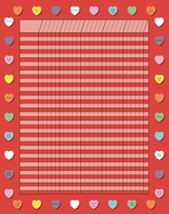 Vertical Incentive Chart - Red Heart (SE-3350)