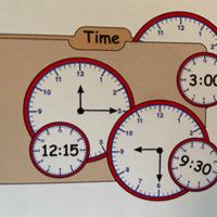 Large Notepad - Clock - Creative Shapes Etc.