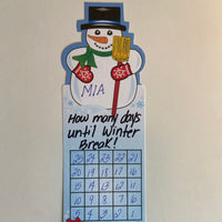 Personal Incentive Chart - Snowman