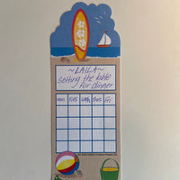 Personal Incentive Chart - Surf's Up - Creative Shapes Etc.