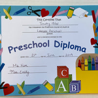 Recognition Certificate - Preschool Diploma