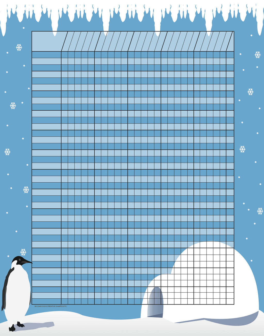 Vertical Incentive Chart - Penguin - Creative Shapes Etc.