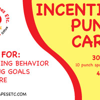 Incentive Punch Cards - Dinosaur