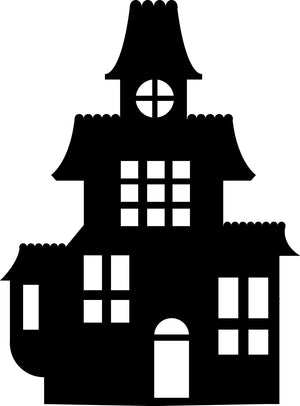Small Single Color Cut-Out - Haunted House