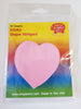 Sticky Shape Notepad - Pink Heart - Creative Shapes Etc.
