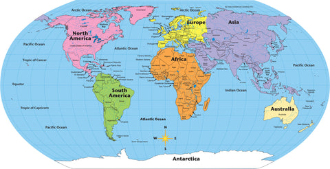 Picture Of Practice Map   World Labeled