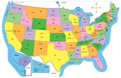 Creative Shapes Etc Maps - Labeled map if us