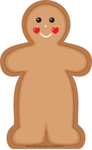 Picture of Large Notepad - Gingerbread Man